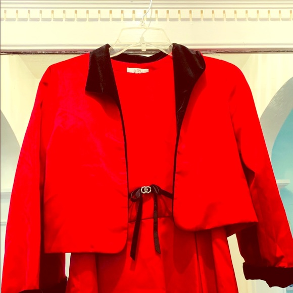 Us Angels Other - Us Angels red formal-satin dress & jacket
